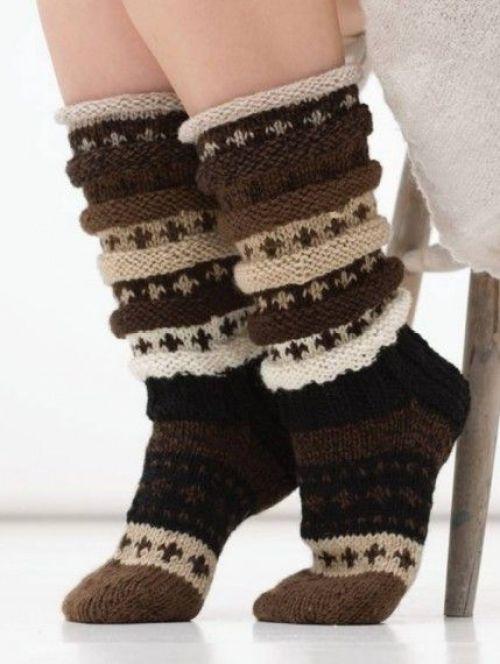 Sjokosokken - sokkestrikk til kalde dager