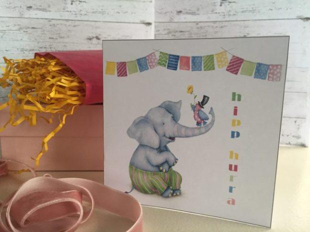 Dobbelt bursdagskort barn - digital print - bye9design