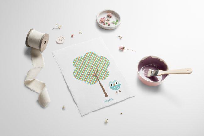 Nydelige kort og bilder til barnerommet
