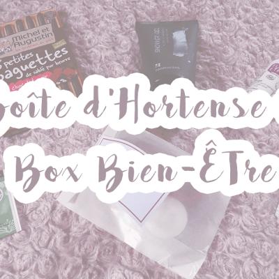 La Boîte d'Hortense : Box Bien-Être #1