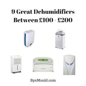 9 Great Dehumidifiers Between £100 - £200