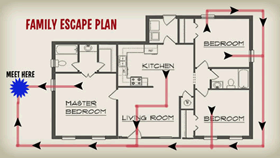 Know 2 ways out byesville for How to make a home fire escape plan
