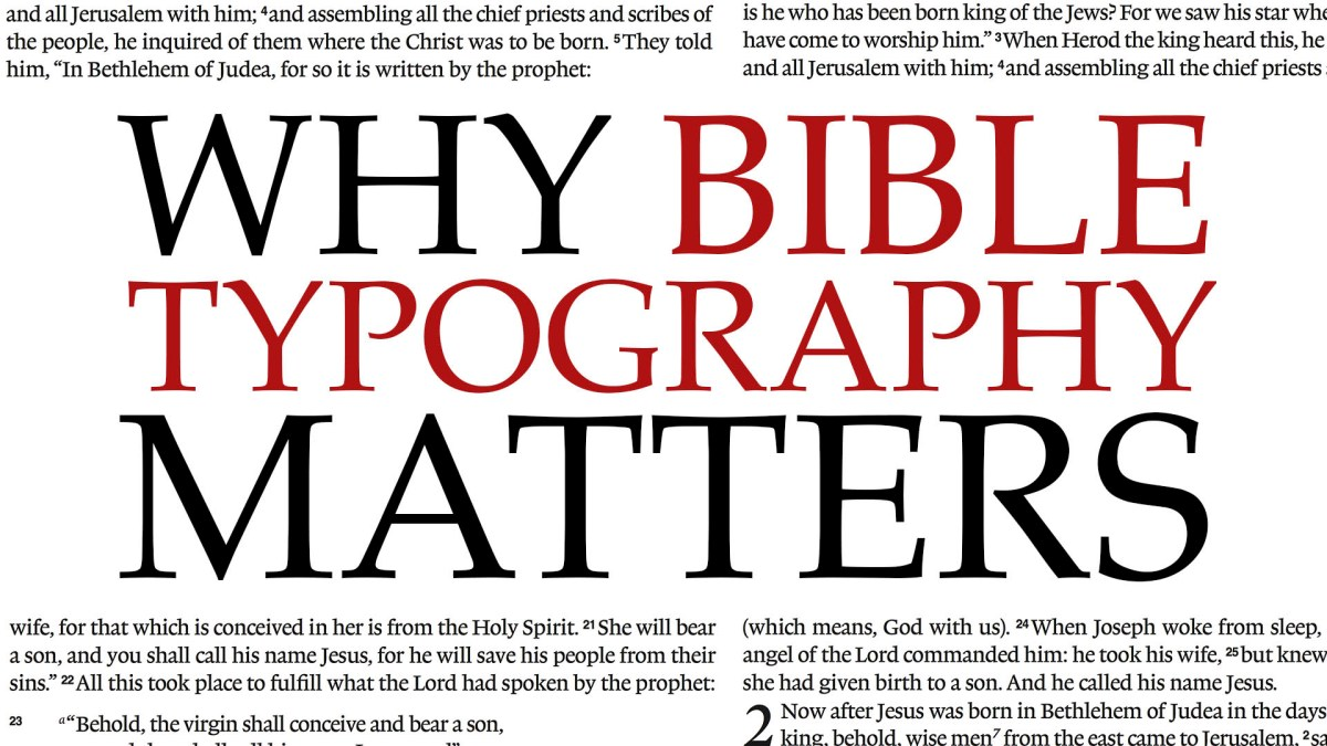 Why Bible Typography Matters Video Passes 10,000 Views