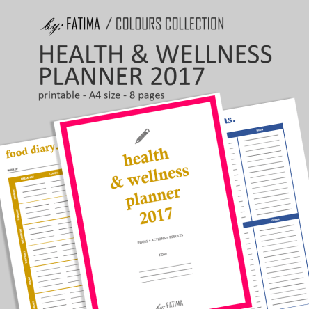 Colours: Health & Wellness Planner 2017