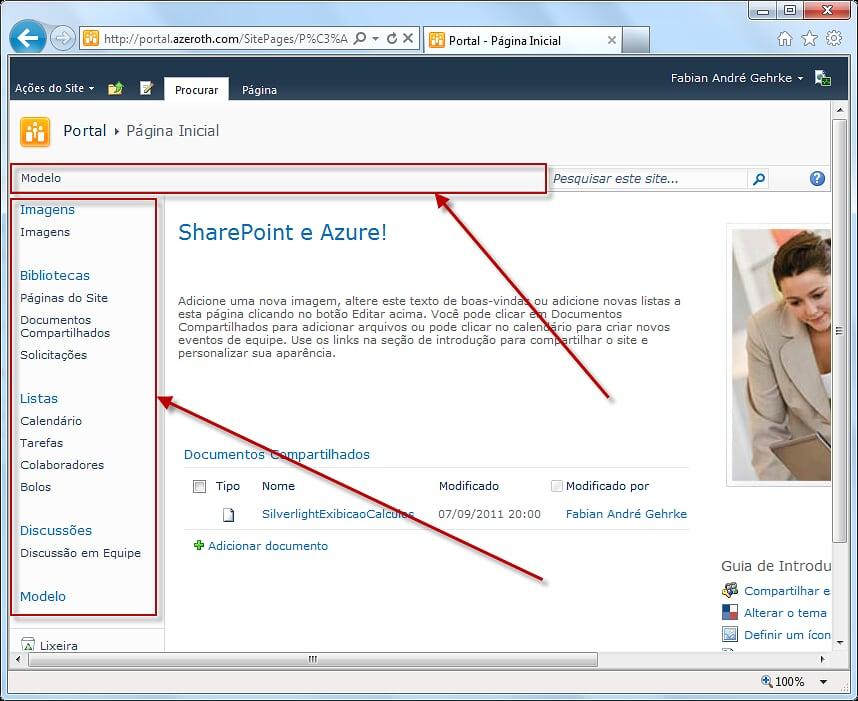 Navegação do SharePoint 2010 (1/6)