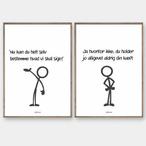 Stickmen design selv plakater