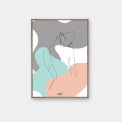 One line art plakater fra byFrank
