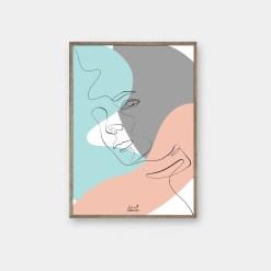 Line art plakat fra byFrank