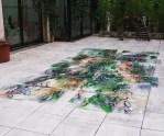 Installation dans le patio à l'espace Dialogos-Cachans 400 × 200cm 2009