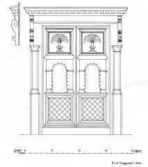 Uppmätningsritning av portarna till en av gårdarna i Ryd utförd av Nordiska museet 1933.