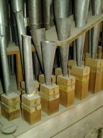 Några av piporna i Schiörlins trumpetstämma.