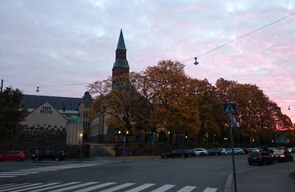 Kvällshimmel över Finlands nationalmuseum, Helsingfors