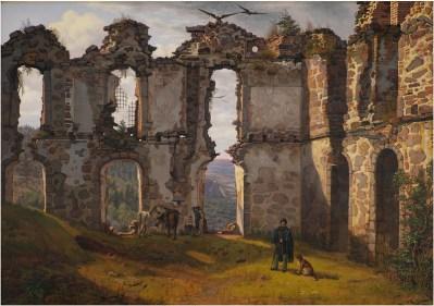 F. Soedring (1809-1862), Ruinerne af Brahehus ved Jönköping i Sverige, 1832-11-02