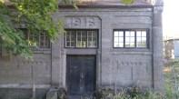 Kraftstation i Överum, helgjuten i betong.
