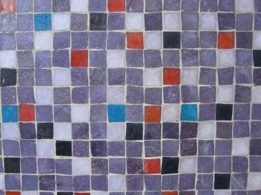Glasmosaiken är typisk för 1950- och 60-talen.