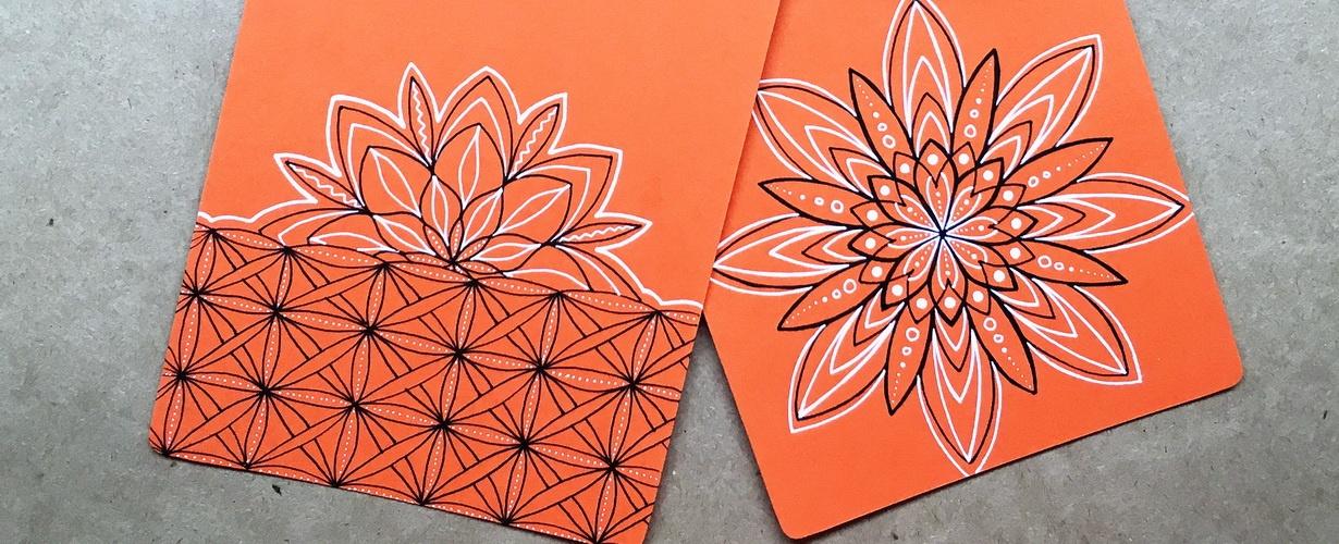 Открытки handmade - как рисовать мандалы на открытках