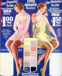 Multi-coloured stockings from the 1920s