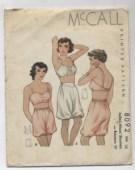 1930s underwear pattern