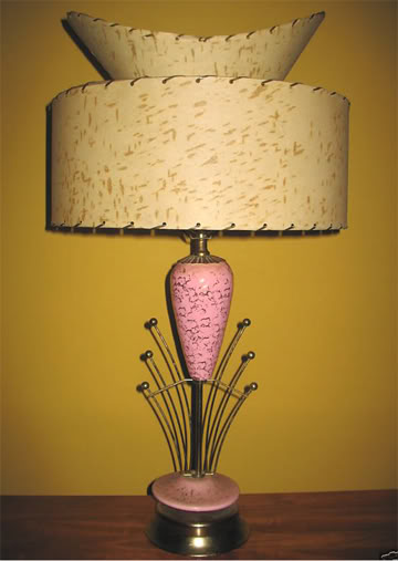 investing in a retro lamp instantly gives the set a vintage vibe