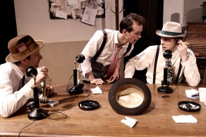 Alex Clay (far right) in Bygone Theatre's His Girl Friday.