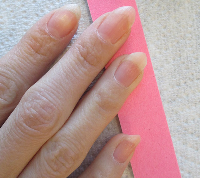 Preparing My Nails To Apply Gel Polish