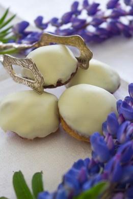 Blåbärsbiskvier med vit choklad
