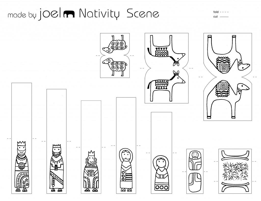 Made By Joel Paper City Nativity Scene Template Kids Craft 2 790