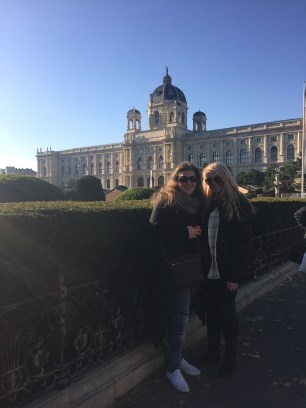 Soph and I outside the museum in Vienna