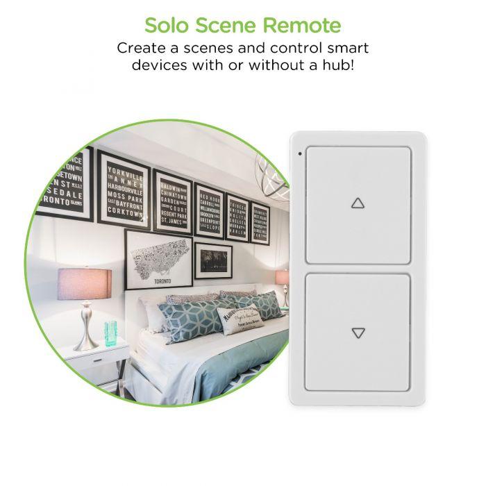 ge enbrighten z wave in wall portable solo scene remote white