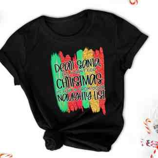 Dear Santa Naughty Boy Tee
