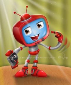 robo-tv-vetor-mascote-personagem-cartoon-desenho-mascot-design-character-red-vermelho-app-celular-smartphone-iphone-robot-jlima