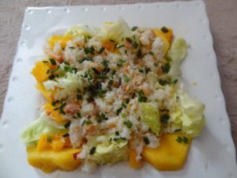 salade de crabe aux fruits 2