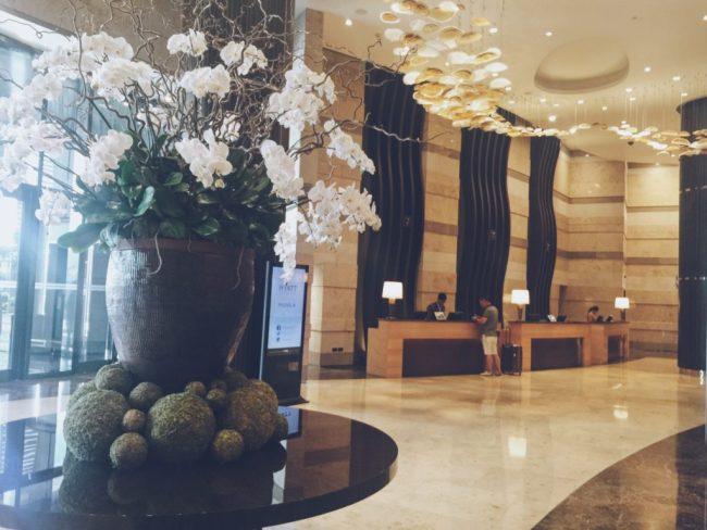 Sảnh check-in Hyatt City Of Dreams Manila