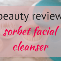 beauty review // sorbet facial cleanser