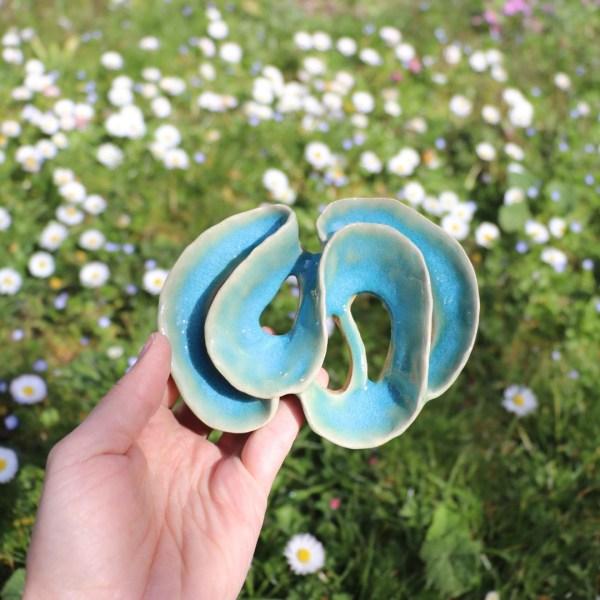 Pique Fleurs bleu ciel