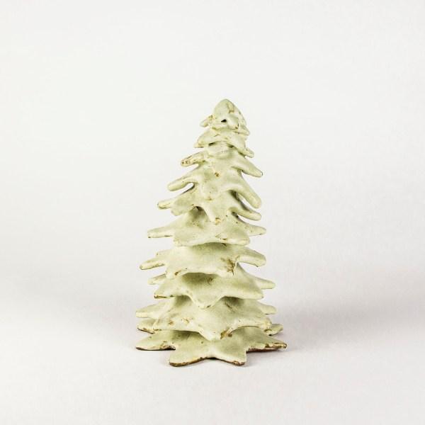 Sapin en céramique décoratif pour centre de table de Noël ou crèche