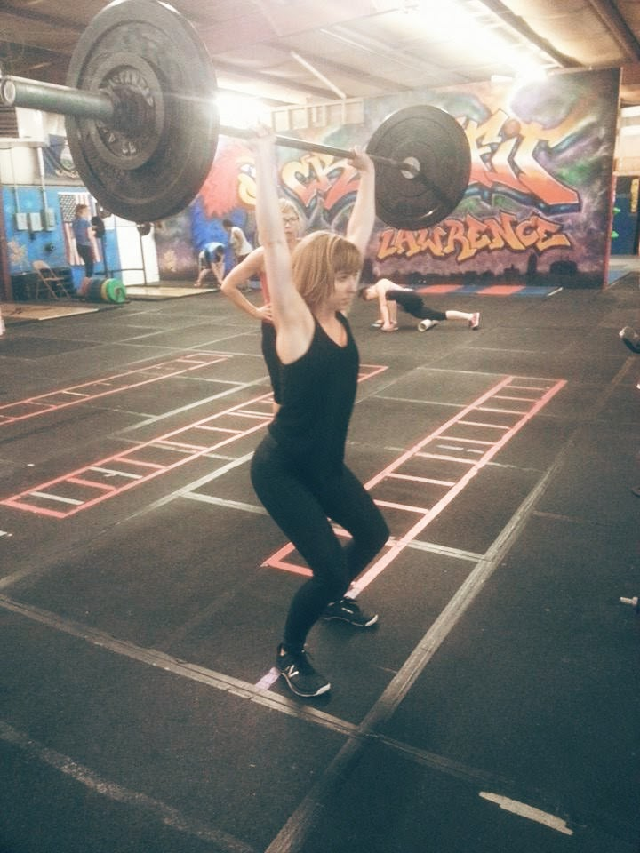 Me Doing Push Jerk at Crossfit Lawrence