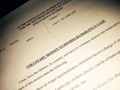 Image of Chapter 7 Bankruptcy Case Dismissal