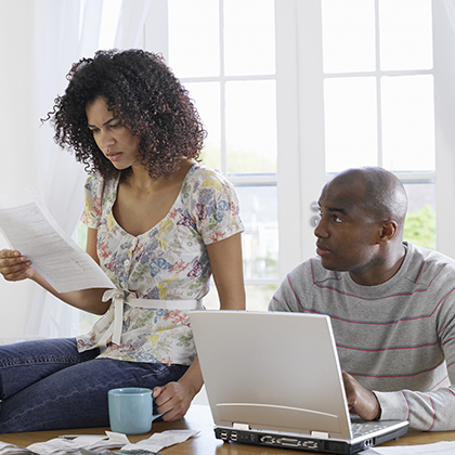 Image illustrating couple considering filing chapter 7 bankruptcy