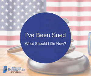 I have been sued - what should I do now?