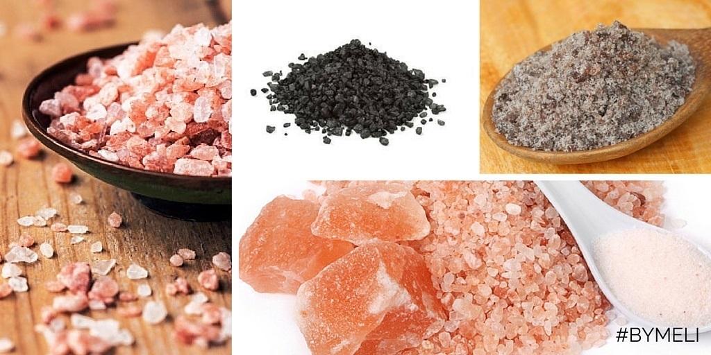 Sale nero e sale rosa dell'Himalaya