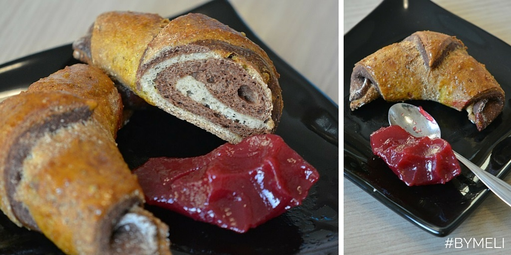 Croissant bicolore. NO zuccheri, NO glutine, low-carb