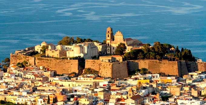 Ciudadela de Lipari en Sicilia