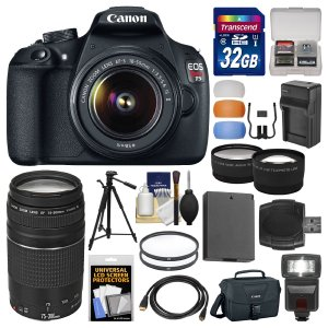 Canon EOS Rebel T5 Bundle (Two Lens 18-55mm75-300mm)
