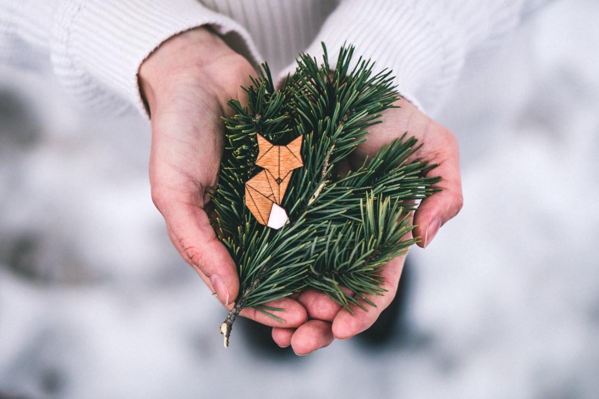 Dřevěná brož - Dear fox