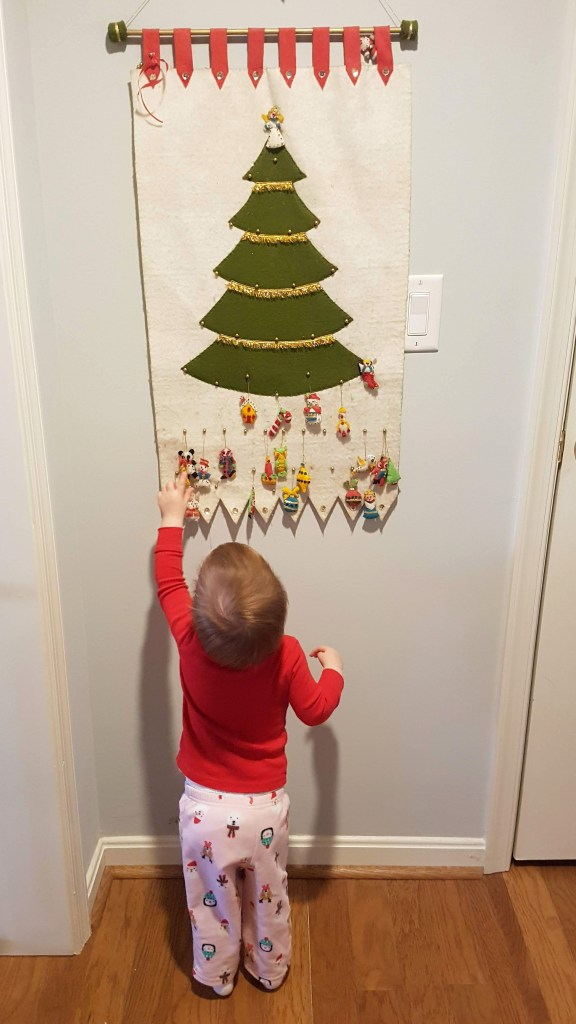 Wee one at the original advent calendar