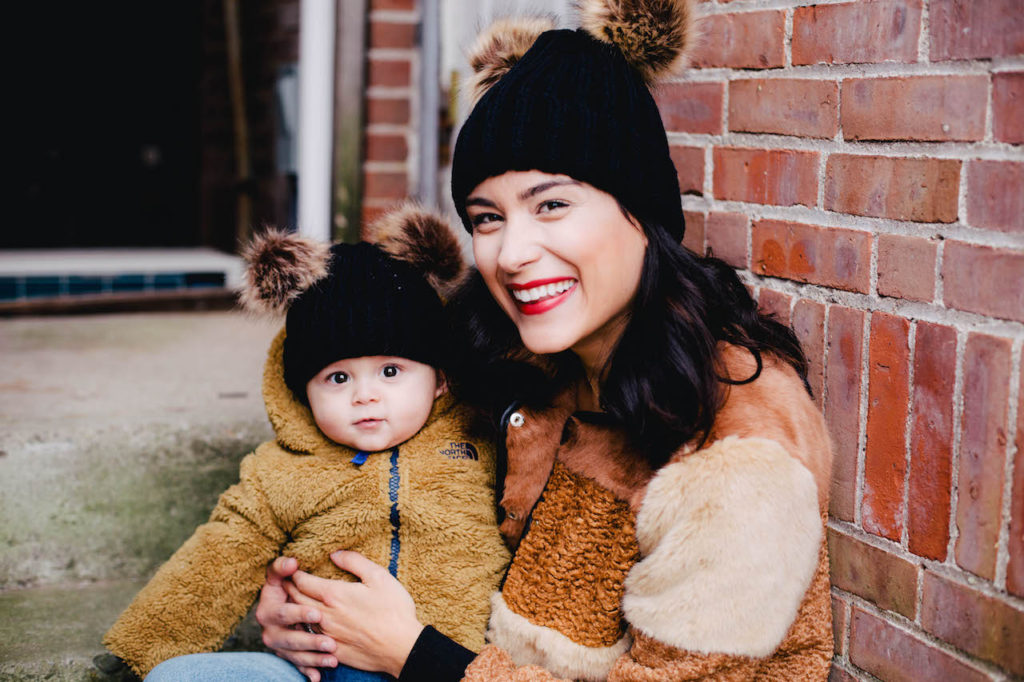 Teddy Bear Mom and Baby Jackets