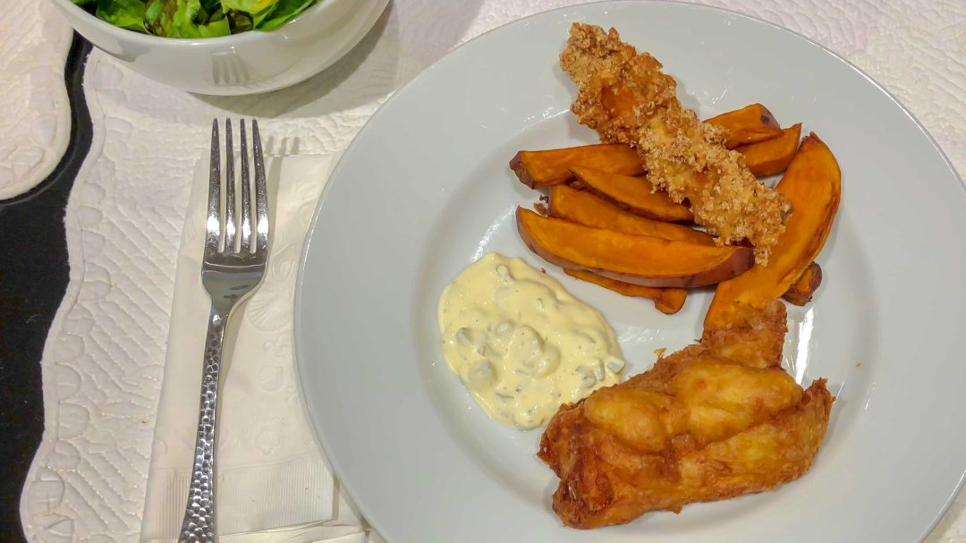 plated fish n chips