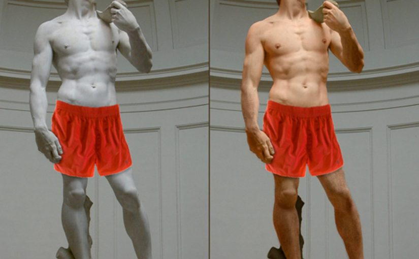 """David von Michaelangelo"" by LeaW licensed under CC by 3.0 via Wikipedia adapted by [unknown] and Nick Byrd"