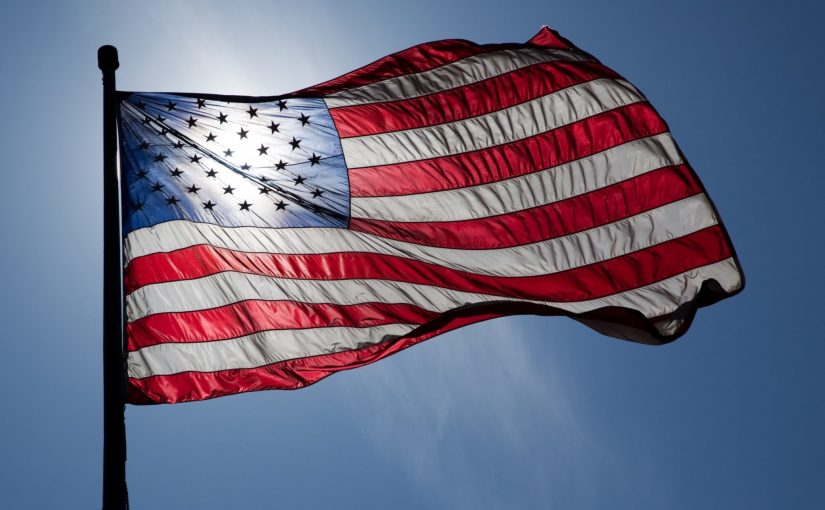 """""""US Flag Backlit"""" by Jnn13 is licensed under CC by 3.0"""